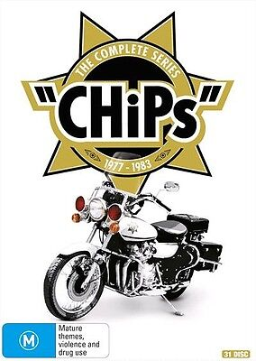 BRAND NEW CHiPs : Complete Series (DVD, 2017, 31-Disc Set) *PREORDER R4