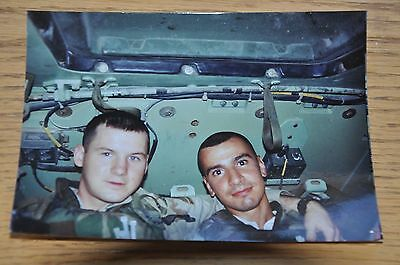 Iraqi Freedom OIF 1st Armored Photograph 5 x 7 In the Bradley Fighting Vehicle