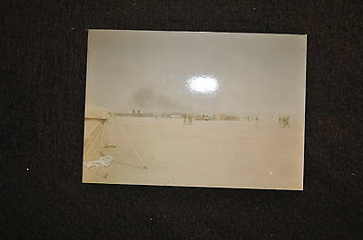 EARLY OPERATION IRAQI FREEDOM 1st ARMORED DIVISION PHOTO - WATCHING EXPLOSION
