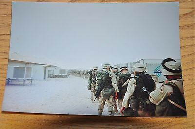 Iraqi Freedom OIF 1st Armored Photograph 5 x 7 Headed out of base in full gear