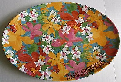 "MARGARITAVLLE Melamine Serving Platter  11"" X 16"" TROPICAL FLOWERS"