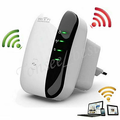 300Mbps Wireless-N Mini Router AP Wifi Repeater Signal Range Amplifier Booster