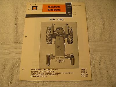 Original Oliver Tractor Model 1250 Sales Notes 6-1-65 22 Pages