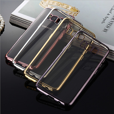 NEW Silicone Rubber Clear Case Cover For Samsung Galaxy S8/S8 +