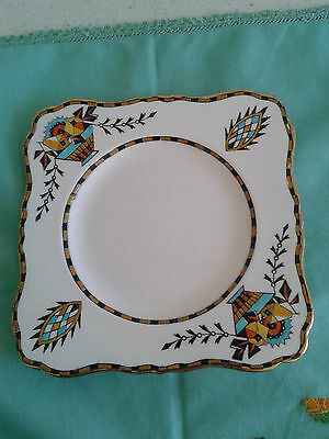Grimwades Royal Winton Ivory hand painted art deco plate