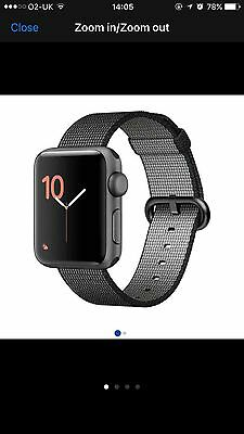 Apple watch 38mm/series 2/woven strap-used once