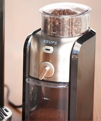 KRUPS GVX212 Coffee Grinder with Grind Size & Cup Selection & Stainless Steel