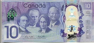 2017 Canada $10 Banknote - LOW SERIAL NUMBERS! - 150th Anniversary Polymer Bill
