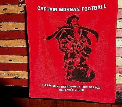 New**captain Morgan Rum Bar Or Golf Towel , Red, Captain Football, Tailgate