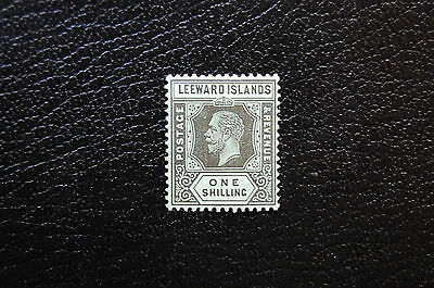 1914 Leeward Islands KGV 1-Shilling Surface-Colored Paper, Die I, Sc 59 (SG 54a)