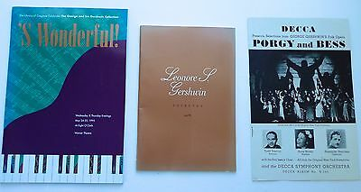 GEORGE & IRA GERSHWIN lot - tribute programs - Porgy & Bess Library of Congress