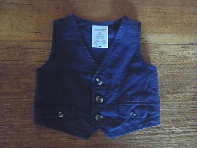 Vest, Special Occasion. Sz:00. (3-6Mths), Navy Blue. Nice Buttons, Very Cute.euc