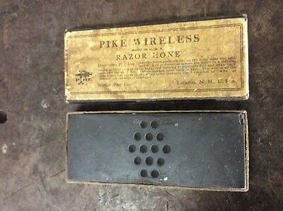 Antique Vintage Pike Wieless Razor Hone