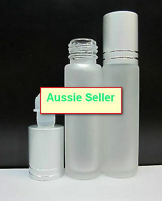 Australia Stock - Empty Elegant depolished GLASS ROLL ON BOTTLES 10 ml pack of 5