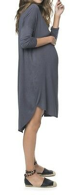 bae maternity sweet disposition dusty blue dress size S