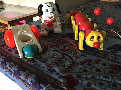 3 Vintage Fisher Price Toys