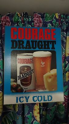 Courage Draught Beer Sign
