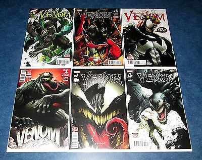 VENOM # 1 2 3 4 5 6 1st print set MARVEL 2017 return EDDIE BROCK 1st app NEW NM