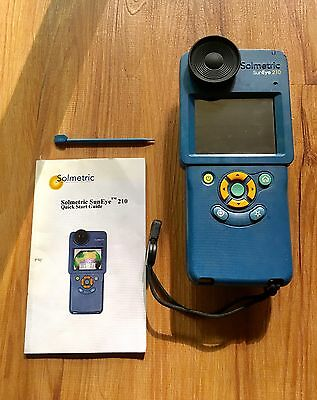 Solmetric Suneye 210 Shade Analysis Tool With GPS  ***READ DESCRIPTION***