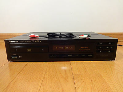 Pioneer PD-4100 Single CD Compact Disc Player Japan 1988 TESTED 100% Works Great