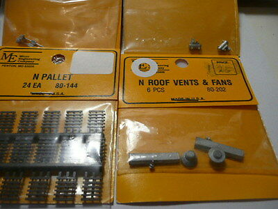 Micro Engineering,Roof Vents & Fans 6pcs,#80-202, 24 ea Pallets,#80-144 new.