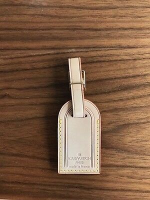 Louis Vuitton Leather Luggage Tag Never Used