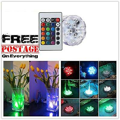 Pool Lights Swimming SPA Underwater Remote Control LED Party Vasa Decor 2 Pack