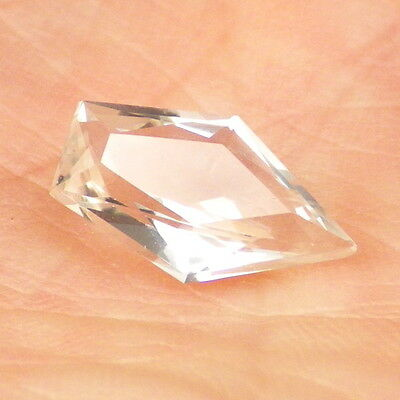 BERYL VAR. GOSHENITE-MOZAMBIQUE 2.20Ct CLARITY SI2-COLORLESS-PERFECT FACETING!