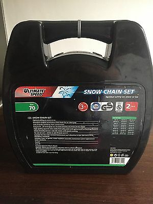 Ultimate Speed Snow Chain Set, Wheel / Tyre size 70, New In Box