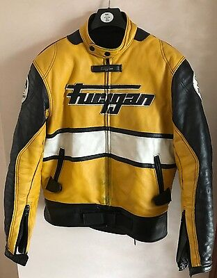 Furygan Leather Motorcycle Jacket Size Large