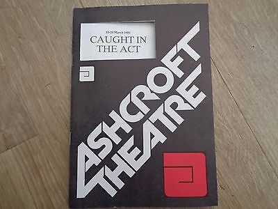 Caught in the Act Theatre Programme Signed - Prunella Gee + others