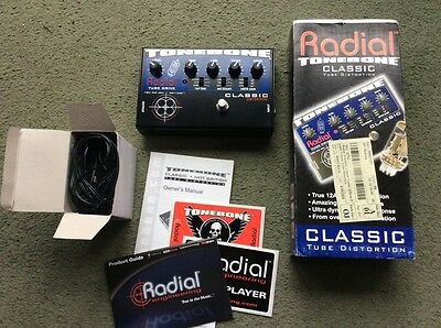 Radial Tonebone Classic Mint Power Box Manual Stickers Tube Valve 12AX7 Overdriv
