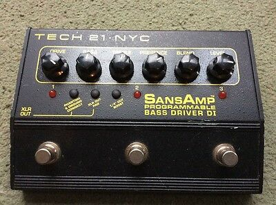 Tech 21 SansAmp Programmable Bass Driver DI overdrive distortion direct