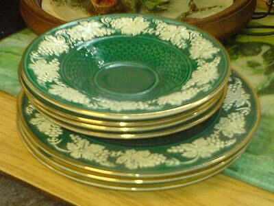 """WADE - ROYAL VICTORIA POTTERY - 7 SAUCERS - 4 of 6"""" - 3 of 7"""""""
