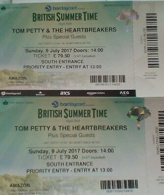 Tom Petty & The Heartbreakers Priority Entry Hyde Park 9 July