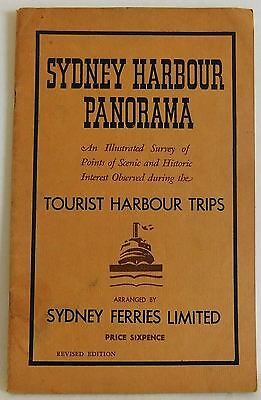 Sydney Harbour Panorama Illustrated Map in back Interesting Vintage History book