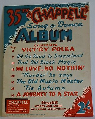 Chappell 35th Album complete words and music vintage song dance book Australian