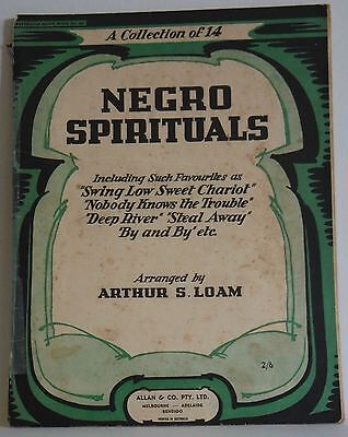 Negro Spirituals a collection of 14 Arthur S Loam 1944 vintage sheet music