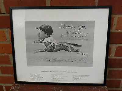 """Interesting old racing print """"Shades of '98 - Jod Sloan -  Here he comes again!"""""""