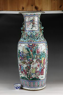 19th century,A huge beautiful 'famille rose'Chinese porcelain vase
