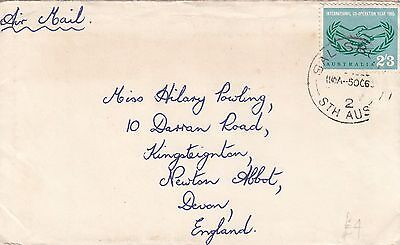 A 763 Salisbury SA October 1965 ICY 2/3d stamp on airmail cover to UK