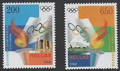 Greece ~ 2000 Olympics Games Set Of 2 ~ Mint / Mnh Stamps
