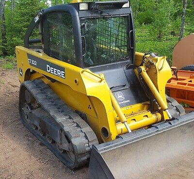 2008 John Deere CT 322 Skid Steer with cab