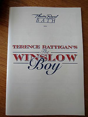 The Winslow Boy-1994 Bath Theatre Royal Programme-Peter Barkworth&simon Williams