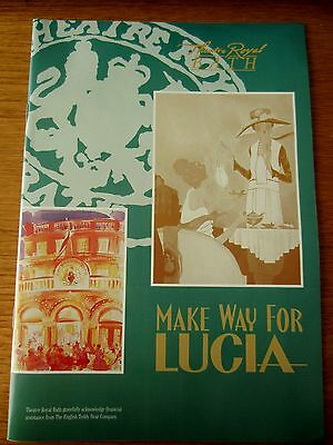 Make Way For Lucia - 1995 Bath Theatre Royal Programme - Starring Angela Thorne