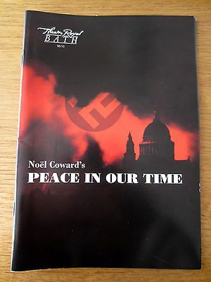 Peace In Our Time - 1995 Bath Theatre Royal Programme