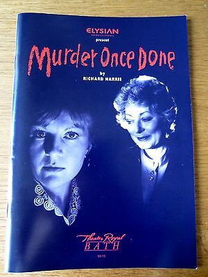 Murder Once Done - 1994 Bath Theatre Royal Programme