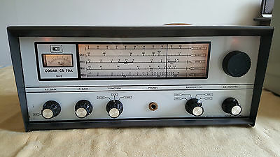 CODAR CR70A MK2 VINTAGE 1960s SSB/CW/AM RECEIVER 560 KHZ TO 30 MHZ  CLEAN & TIDY