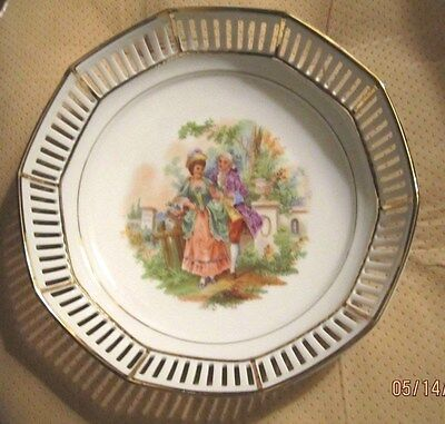 """Vintage Displayable ONLY """"ERPHILIA"""" Germany bowl w/scalloped Gold Gild Edge."""