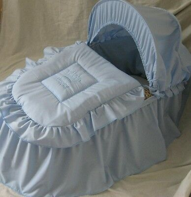 'prince' Moses Basket Cover Set Blue  By Babyfanzone